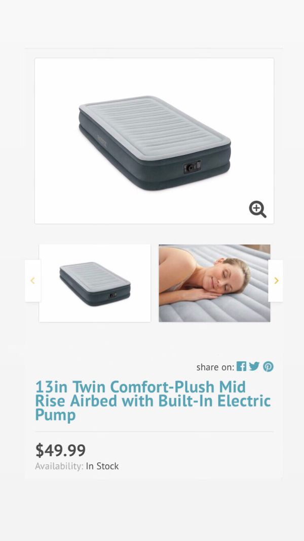 13in Twin Airbed with Built-In Electric Pump