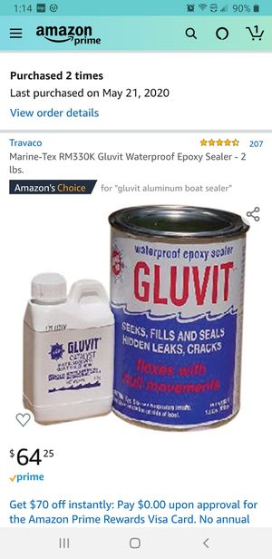 Gluvit Epoxy Sealer for aluminum for Sale in Bealeton, VA