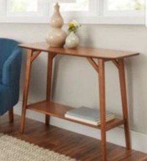 New BHG Reed Mid-Century Modern Console Table, Pecan for Sale in Pasadena, CA