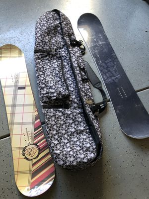 Snowboards, bindings and bag for Sale in Montclair, CA