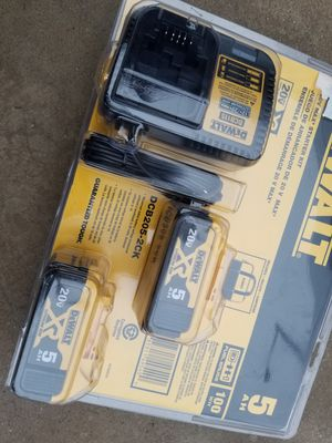 20 V DeWalt XR Batteries and Charger Brand NEW !!!! for Sale in Bakersfield, CA