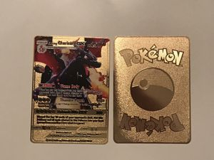 Shining Charizard Gold Metal Pokemon Card for Sale in West Palm Beach, FL