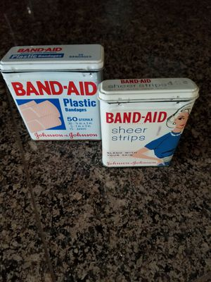 Vintage band aid tins for Sale in Lake Stevens, WA