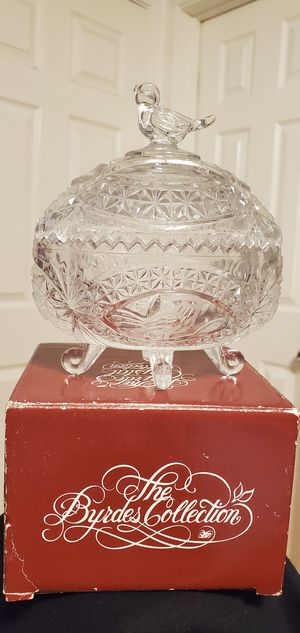 Brand New The Byrd's Collection Glass Bird Oval Storage Container $12.00 for Sale in Gardena, CA