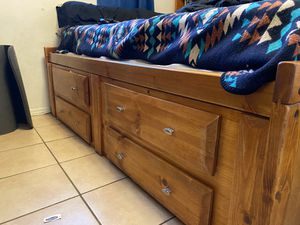 Wooden bed frame for Sale in El Paso, TX
