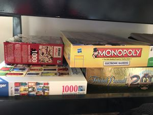 Board games and puzzles for Sale in Montgomery, NJ