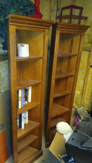 Matching wooden corner shelves for Sale in Sugar Hill, GA
