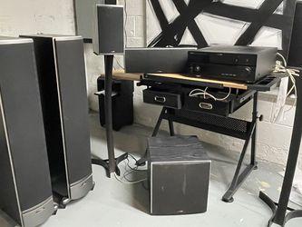 Polk Audio And Yamaha 7.1 Surround Sound for Sale in Marlboro Township,  NJ