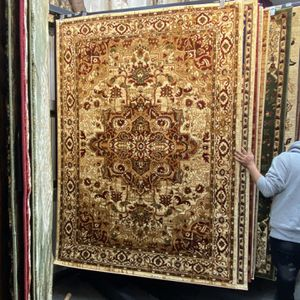 5x7 Beige Red Persian Style Area Rug Durable Non Shedding Non Slide Carpet for Sale in Los Angeles, CA