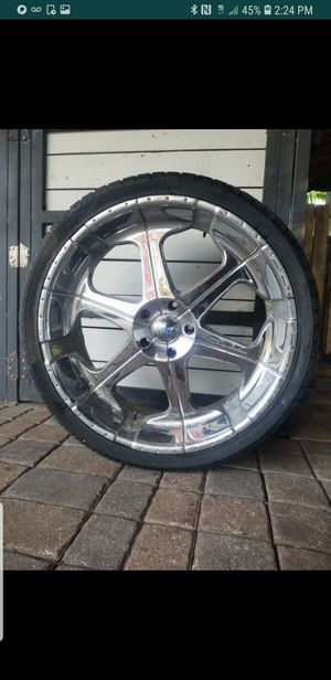 26 each rims with tires for Sale in Miami, FL