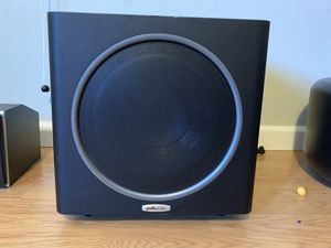"Polk Audio PSW111 Subwoofer - 8"" - Black , and CS1 Center Channel for Sale in Hillsboro, OR"