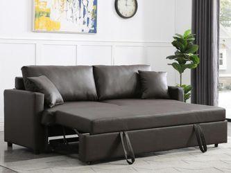 Rebecca Brown PU Sleeper Sofa 💕💕💕 for Sale in Houston,  TX