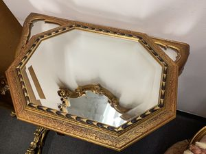 Italian glass mirror tray gilt wood for Sale in Falls Church, VA