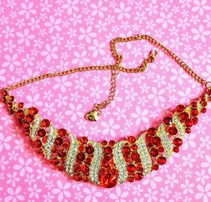 Nwt Betsey Johnson Red Crystal Statement Necklace for Sale in Wichita, KS