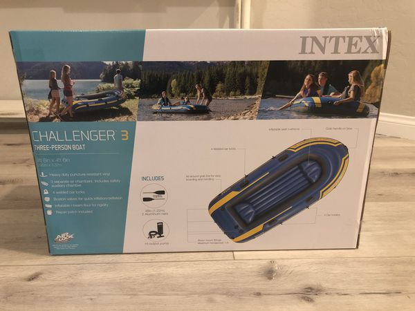Inflatable 3 Person Boat