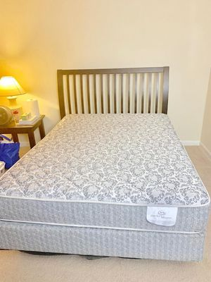 Queen size bed frame and mattress for Sale in Herndon, VA
