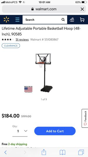 Lifetime Basketball hoop (excellent condition) for Sale in Richmond, VA