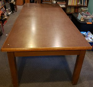Weyerhaeuser conference table solid wood for Sale in Black Diamond, WA