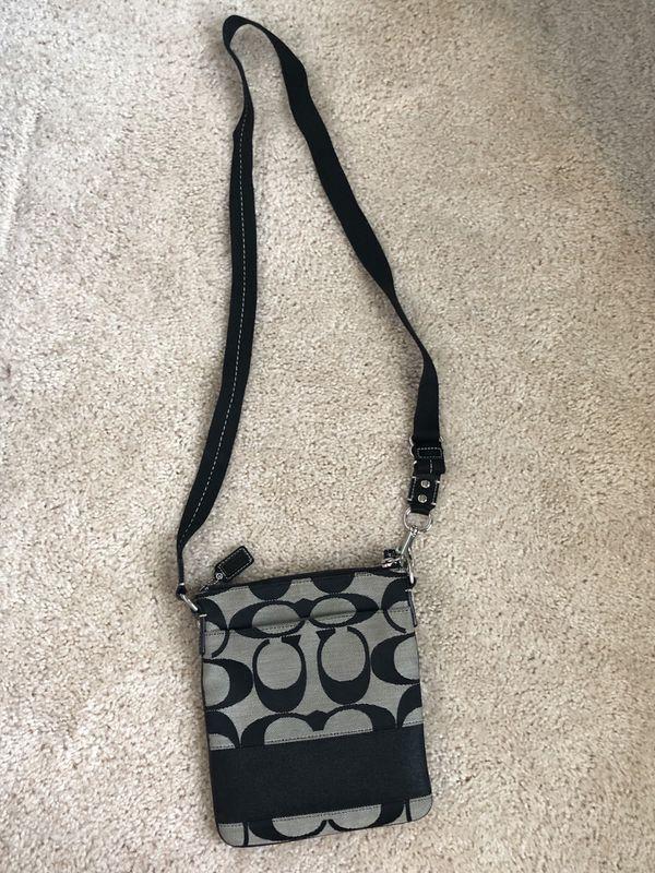 Coach side bag - Black/Grey