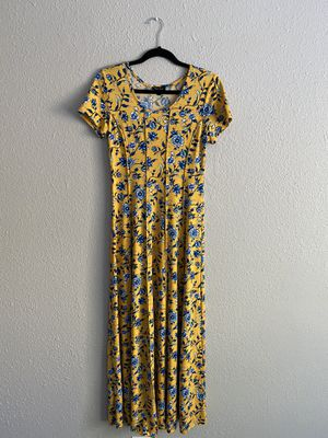 Yellow and Blue Floral Dress for Sale in Everett, WA