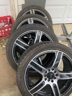 4. MB rims and tires 215/45/R17 Yokohama for Sale in Elmendorf,  TX