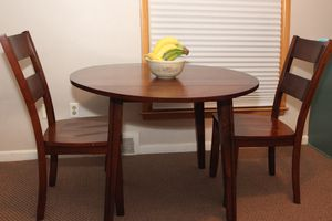 Wooden Dining Table + 2 Matching Chairs for Sale in Royal Oak, MI