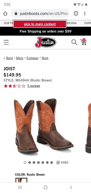 Justin boots for Sale in El Paso, TX