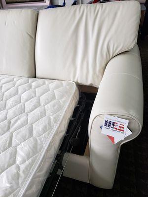 Sofa cama de piel for Sale in Salt Lake City, UT