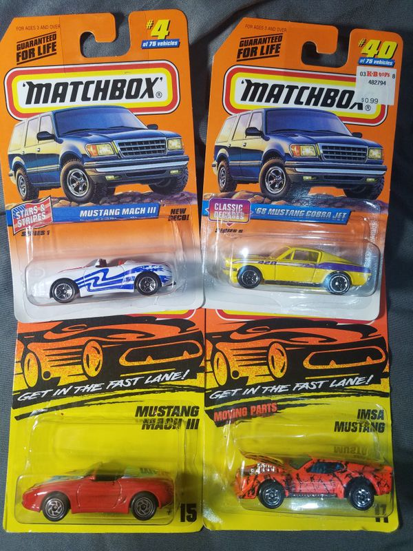 Matchbox Mustangs