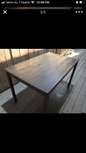 IKEA table brown chestnut for Sale in Costa Mesa, CA