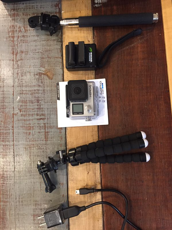 GoPro hero 4 with all accessories