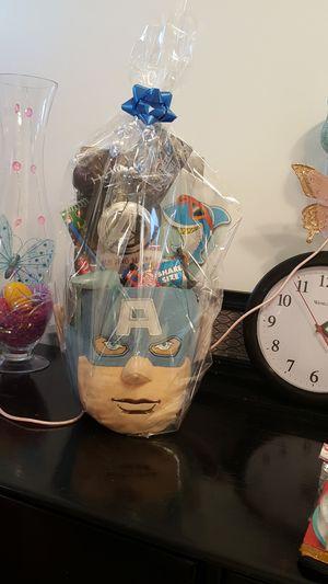 Marvel Captain America Easter basket Legos hot wheels Easter eggs Easter gift candy marvel birthdays for Sale in City of Industry, CA