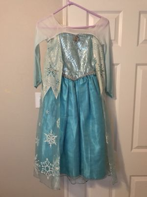 Disney Store Frozen Elsa Dress Kid Size 7/8 for Sale in Frisco, TX
