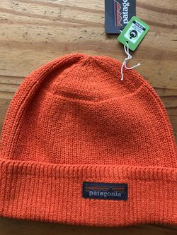 Patagonia Tin Shed Beanie Orange Recycled/Organic Cotton New With Tags for Sale in Lawndale,  CA