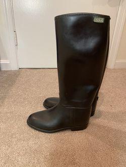 Aigle Rubber Boots Size 6 US. 36 EU Black for Sale in Ashburn,  VA