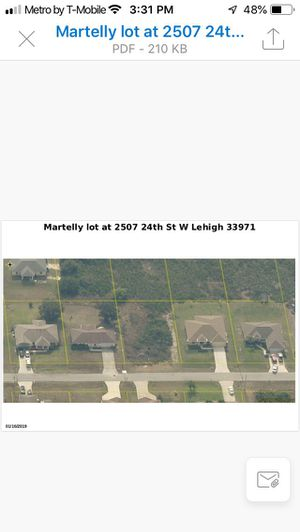 Land for sale Lehigh Acres Fort Meyers Florida 1/4 acre not return accepted for Sale in Boca Raton, FL
