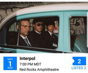 Interpol next week for Sale in Fort Collins, CO