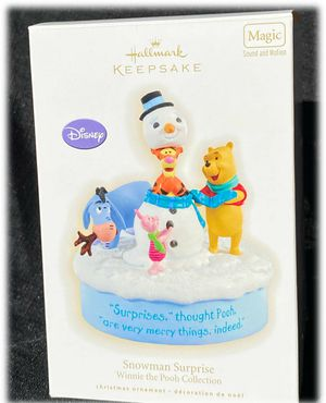 Hallmark Keepsake Winnie The Pooh Sound Christmas Ornament 2009 Snowman Surprise for Sale in Moreno Valley, CA