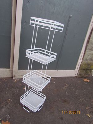 White Wire Corner Shelf for Sale in Brookline, MA