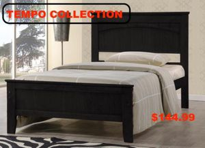 Twin Wooden Platform Bed Frame,Cappuccino, #7579CP for Sale in Downey, CA