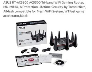ASUS AC 5300 Tri Band Gaming WiFi Router for Sale in Issaquah, WA