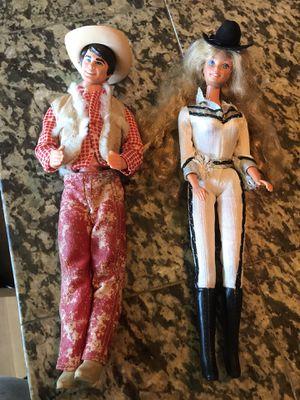 Vintage Barbie & Ken dolls - cowboy theme -1966 & 1968 for Sale in Boring, OR