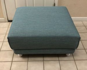 """Brand New Large Turquoise Blue Linen Ottoman 34"""" x 34"""" x 17"""" T for Sale in Elk Grove, CA"""