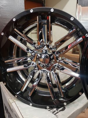 22inch 2pice moto METAL wheels for jeep for Sale in Fresno, CA