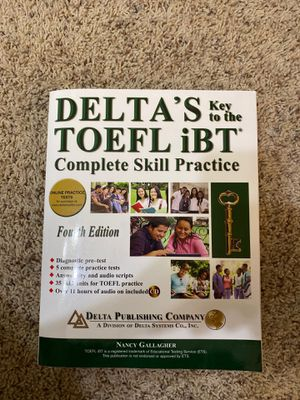 Toelf iBT complete skill practice for Sale in Richardson, TX