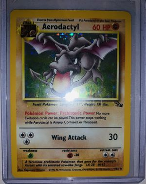 Aerodactyl Rare Holo Pokémon Card for Sale in Marietta, GA