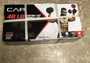 🚀 CAP (pair) Barbell 40 Pound Total Adjustable Cast Iron Dumbbell Weight Set NEW for Sale in San Antonio, TX