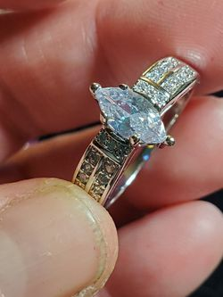 Delicious Marquis Solitaire cz Sterling Filled Fashion Ring for Sale in Wenatchee,  WA