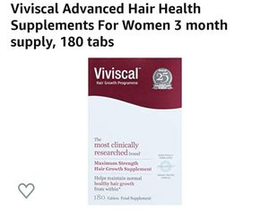 Viviscal Advanced Hair Health 3 Months Supply 180 Tablets for Sale in Addison, TX