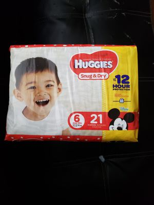 3 PACKAGES DIAPERS HUGGIES SNUG & DRY SIZE 6 for Sale in Takoma Park, MD